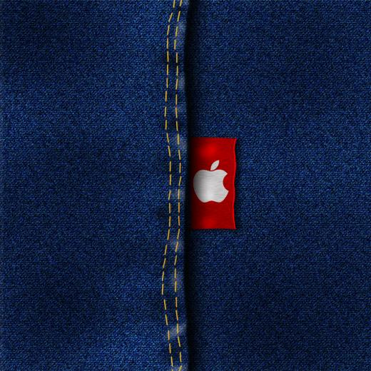 iPad Wallpaper Apple Jeans day 115 365 Days of Design