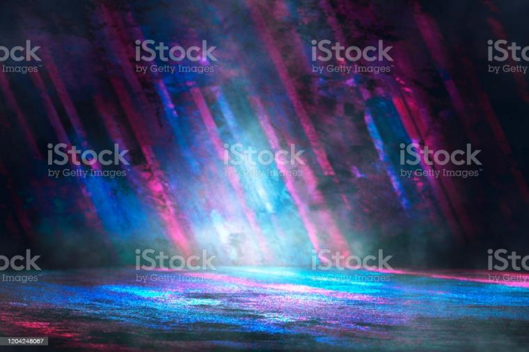 Futuristic Gaming Background Or Product Showcase Stock Photo
