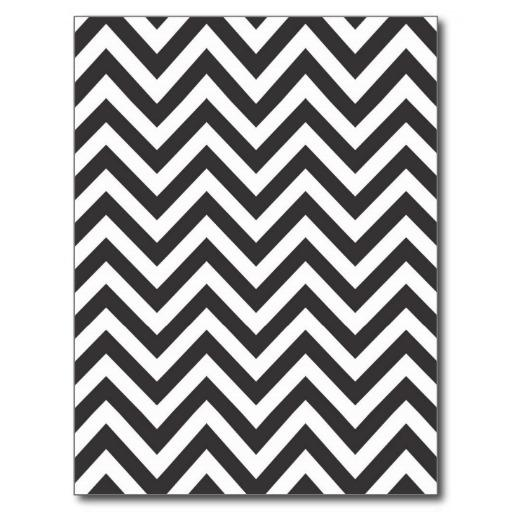 Zig Zag Striped Pattern Template Background Post Cards