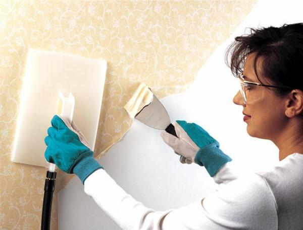 Tapeten entfernen Wie kann man die Tapeten richtig ablsen