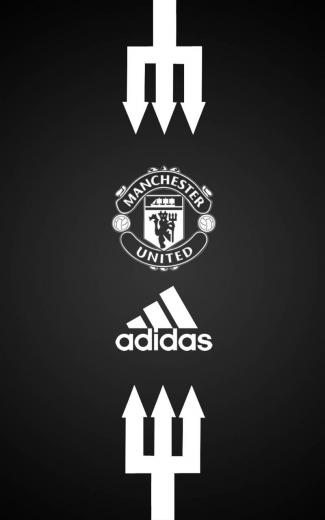 Manchester United Adidas Android wallpaper black Manchester
