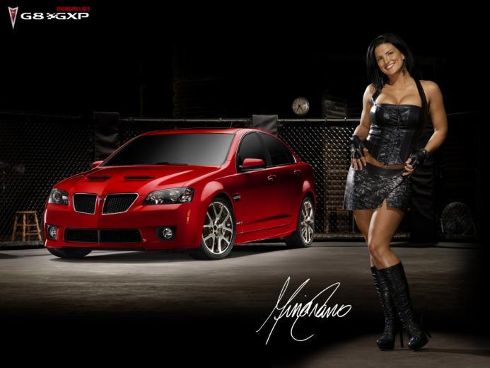 Download High quality Red Pontiac G8 GXP Girls Cars Wallpaper