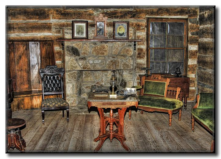 Log Cabin Living Room by FrankFJr All rights reserved