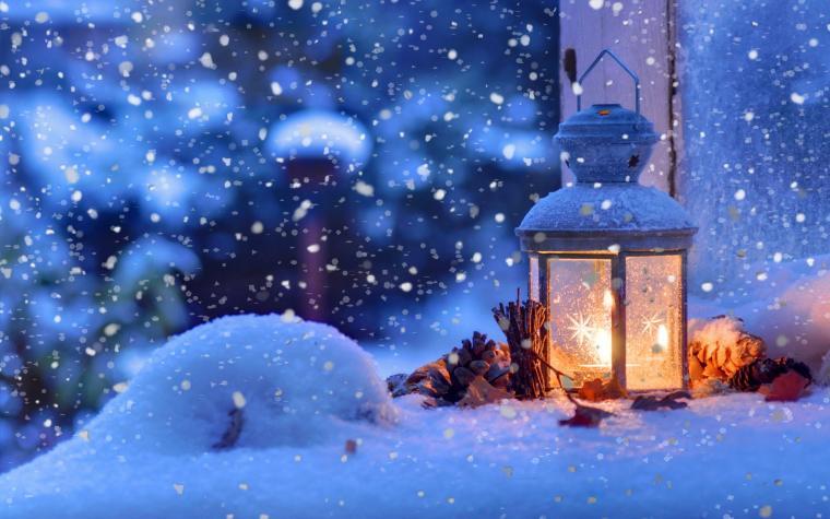 winter macro light snowflakes desktop wallpaper Holidays