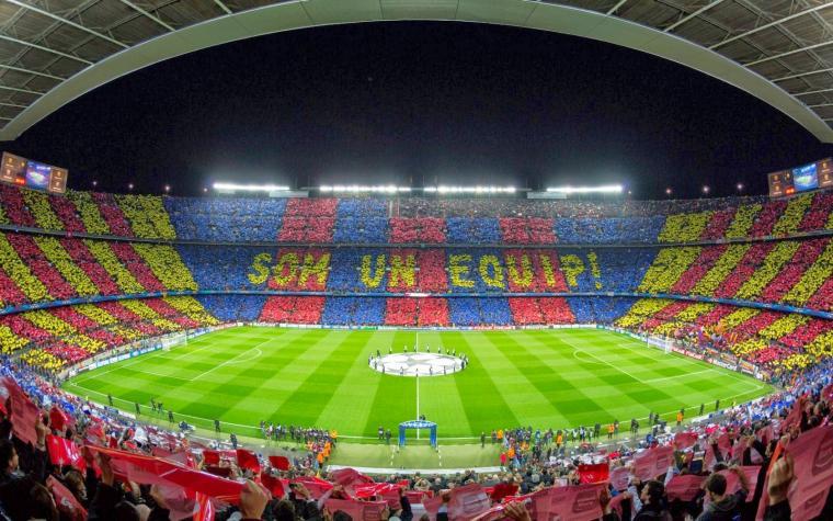 Camp Nou Wonderful Mosaic La Liga HD Desktop Wallpaper CaT