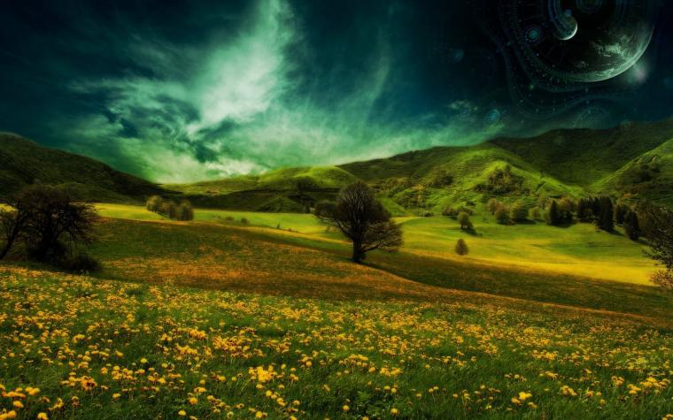 Meadow Nature Summer Grass Sky Full HD Desktop Wallpapers