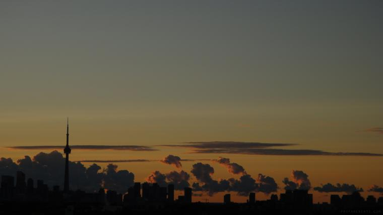 Sunrise Skies Over Anderson Lake Ontario Canada Resolution 1366x768