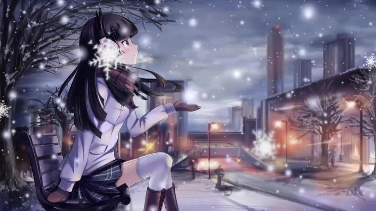 Anime Girl Winter Snow Live Wallpaper n Me Flickr Good Wallpapers