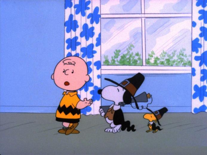 Wallpaper Thanksgiving Charlie Brown Snoopy Peanuts Cartoon 1024x768