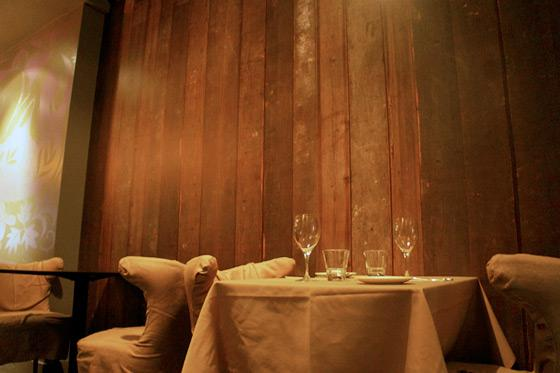 Heres a Photo of the Reclaimed Wood Wallpaper at Fable    Grub