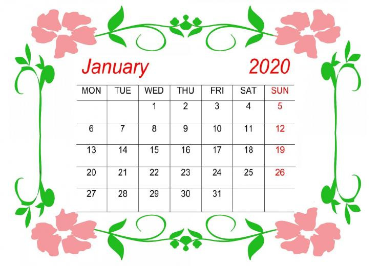 21 Cute January Calendar 2020 Floral Wallpaper For Desktop iPhone