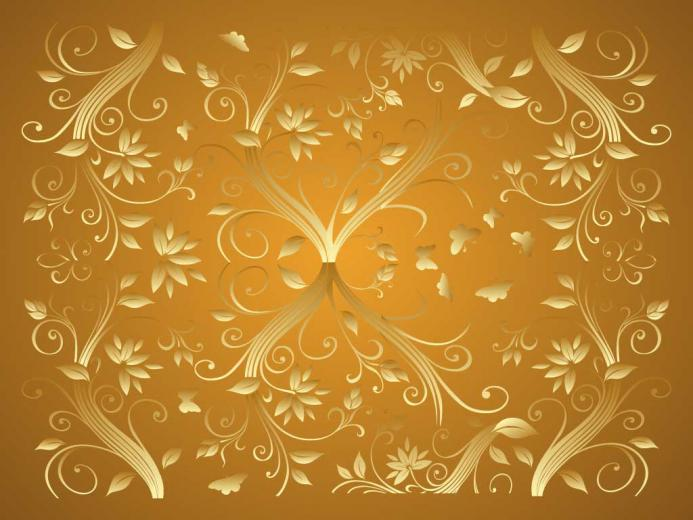 Elegant Gold Background Gold flowers