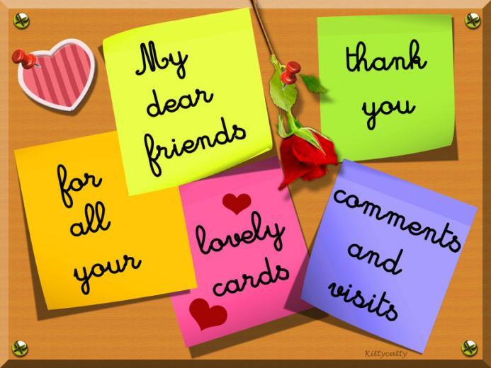 Thank you card for all my DN friends wallpaper   ForWallpapercom