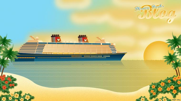 Tiki Tackett Disney Fantasy Wallpaper on the Disney Parks Blog