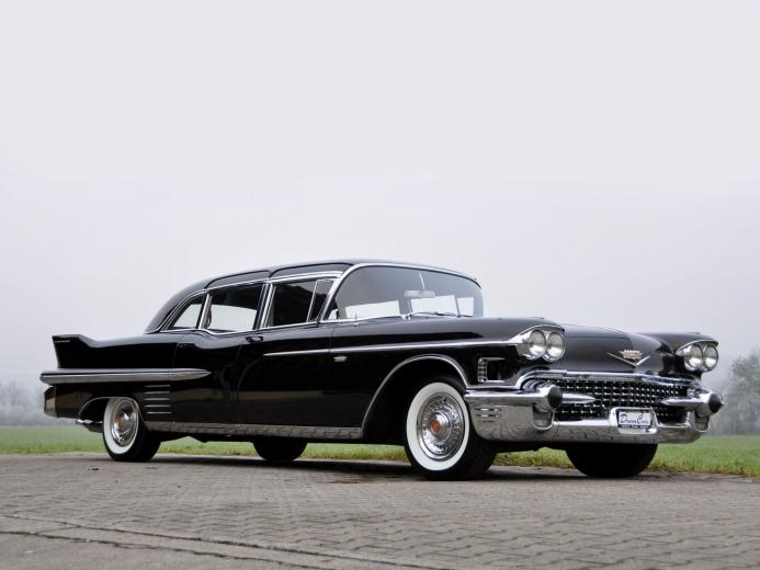 1 1958 Cadillac Fleetwood Limousine HD Wallpapers Background