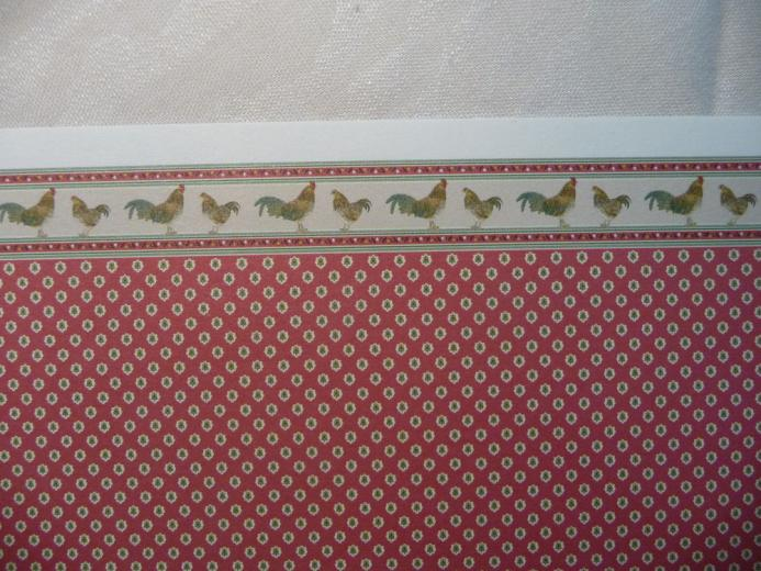 Miniature Dollhouse Red Rooster Wallpaper by Brodnax 2 Sheets eBay