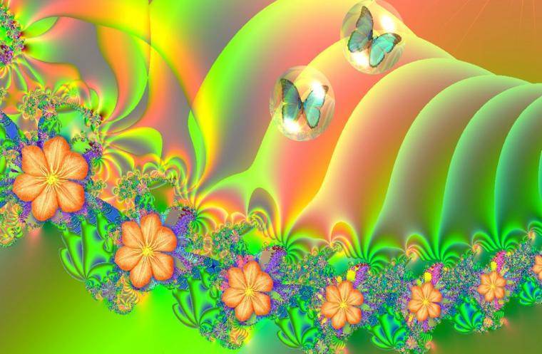 Summer Bloom Fractal Twitter Backgrounds Summer Bloom Fractal Twitter