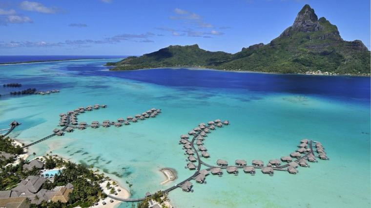 Pics Photos   Wallpaper 1920x1080 Bora Bora Reefs Jpg