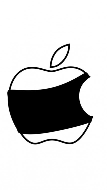 Black and white apple iPhone 5 wallpapers Background and Wallpapers