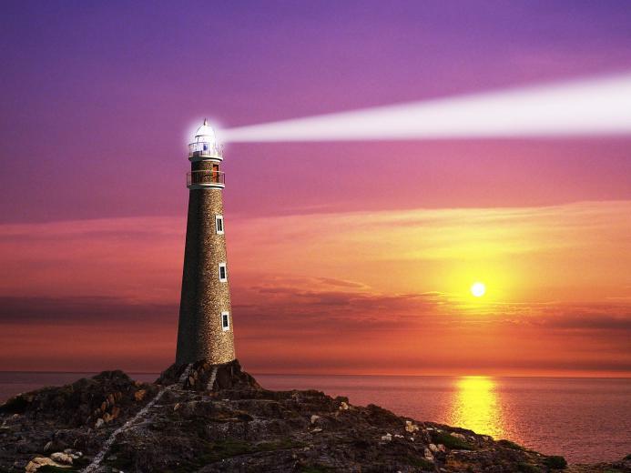 The Coastal Lighthouse   Computer Art Photography Desktop Wallpapers