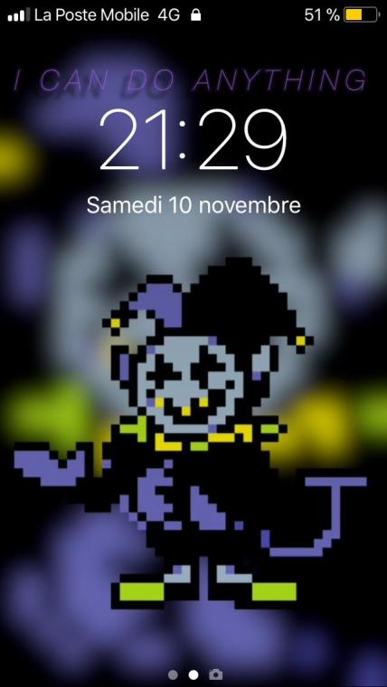 I made a Jevil wallpaper using a random app link for dl below