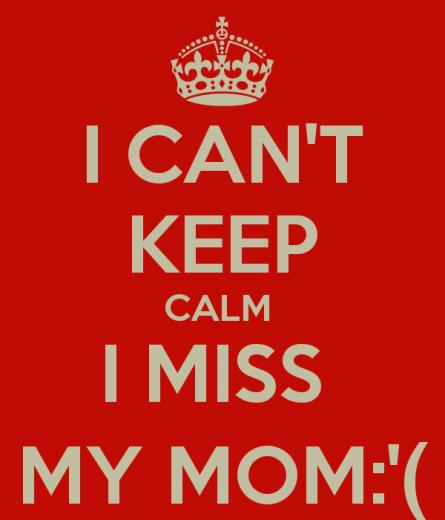 CANT KEEP CALM I MISS MY MOM   KEEP CALM AND CARRY ON Image