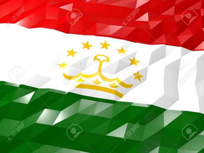 Flag Of Tajikistan 3D Wallpaper Illustration National Symbol
