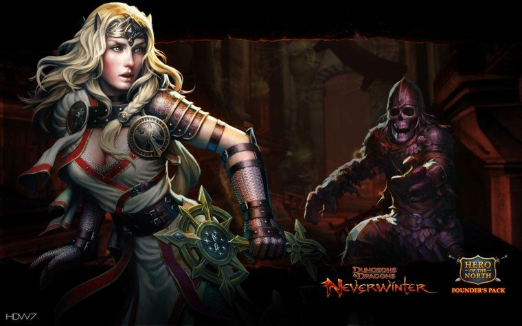 dungeons and dragons neverwinter devoted cleric widescreen wallpaper