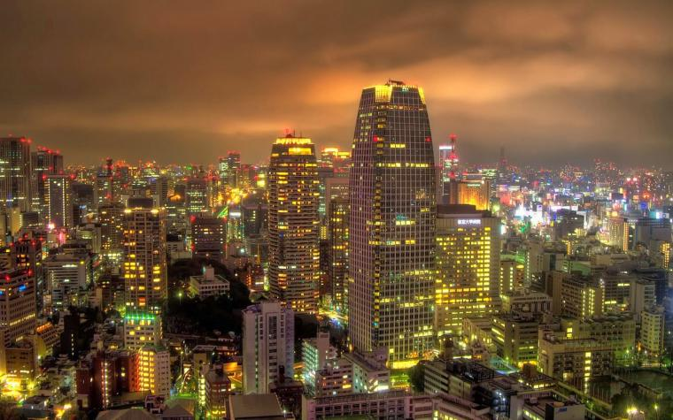 tokyo at night wallpaper 1920x1200   weddingdressincom