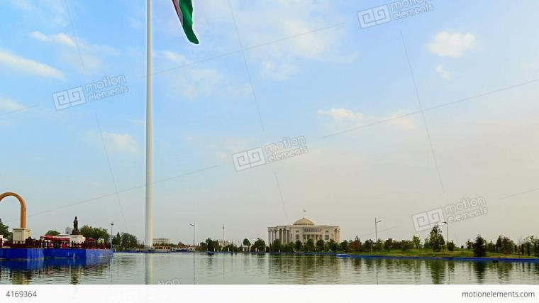 Flagpole With A Flag Dushanbe Tajikistan Time L Stock video