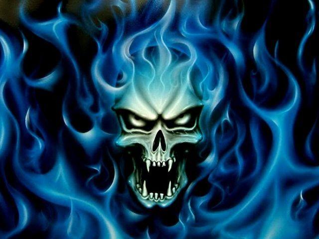 blue fire skull wallpaper Quotes