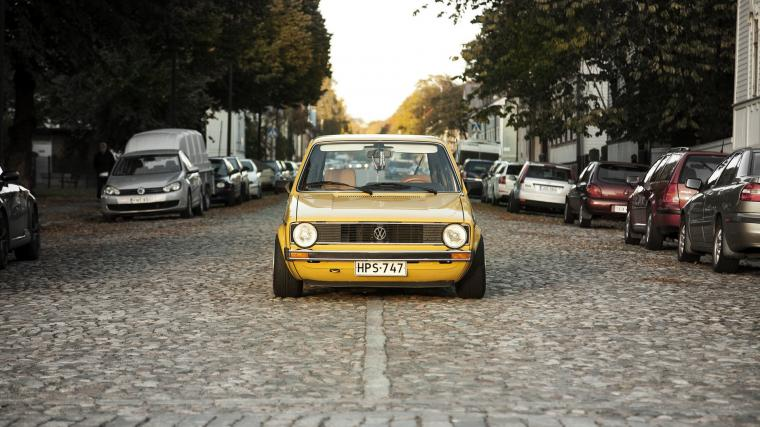 Download wallpaper 1920x1080 volkswagen golf mk1 yellow front