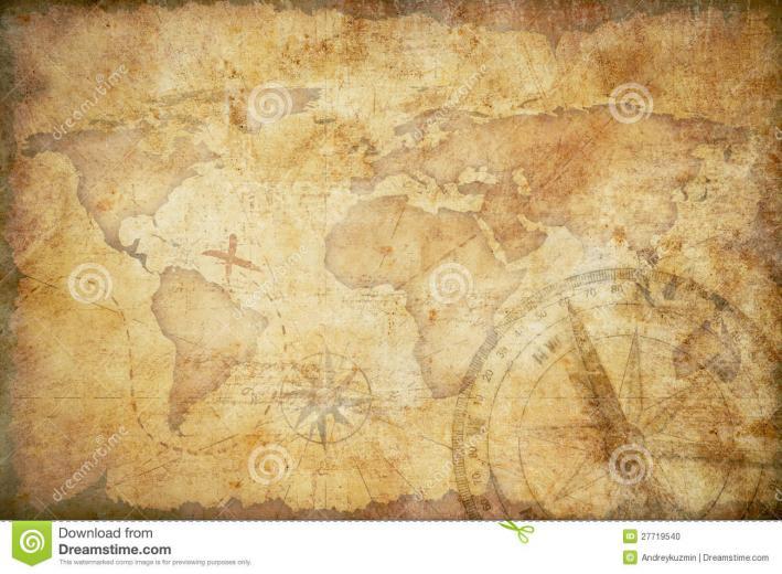 Aged Treasure Map Background Stock Photo   Image 27719540