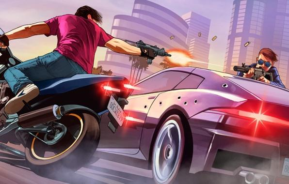 Wallpaper gta online fanart los santos grand theft auto v rockstar