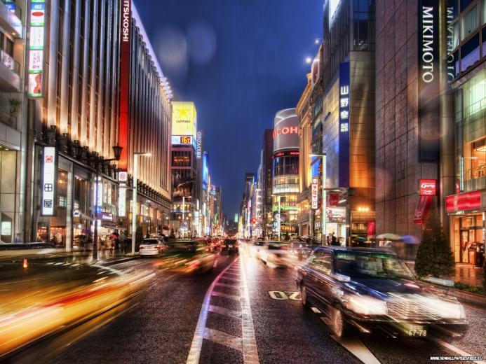 Download Tokyo Street at Night wallpaperdesktopiPad background