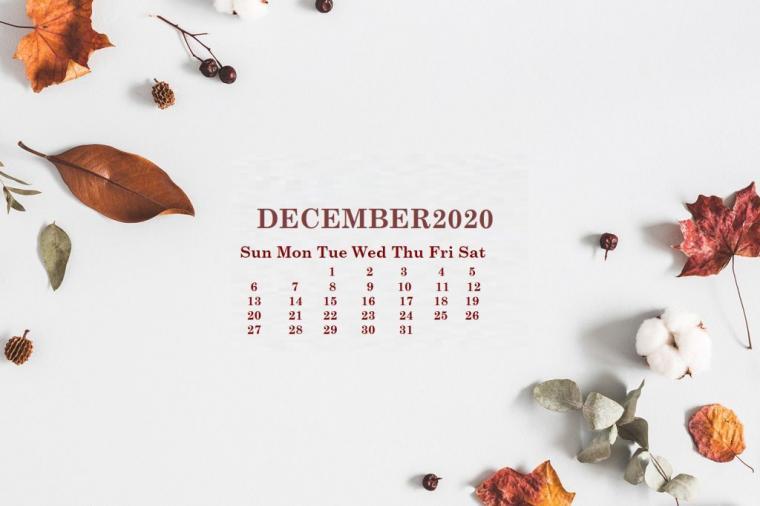 Monthly 2020 Desktop Wallpaper Calendar 2020