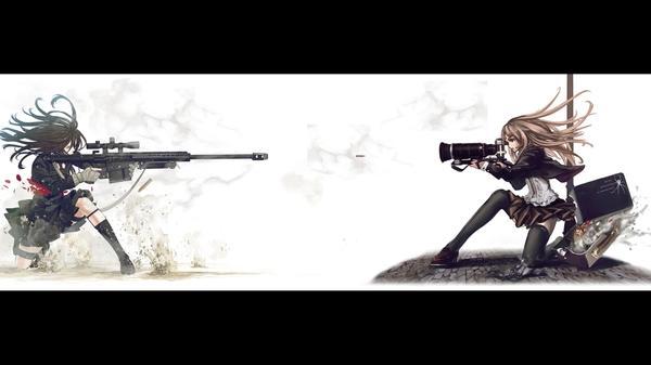 camerassnipers snipers cameras anime 1920x1080 wallpaper Cameras