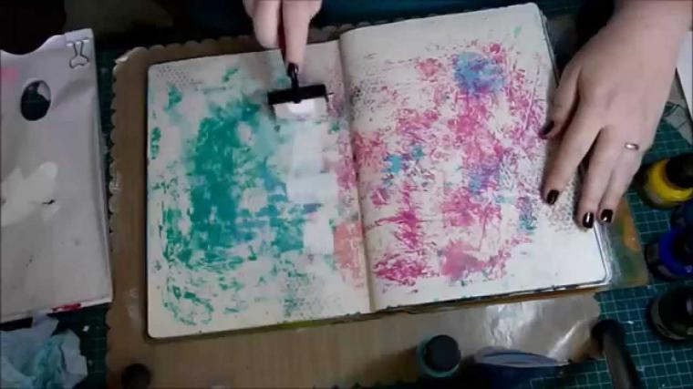 10 Basic Background Techniques for Art Journaling
