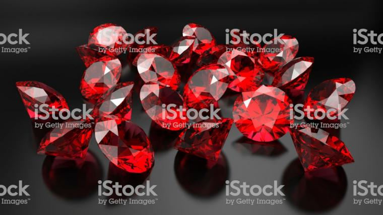 Rubies On A Dark Background Stock Photo   Download Image Now   iStock