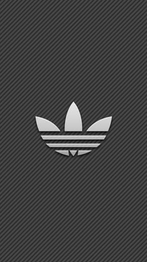 Adidas Logo With Stripe Background Wallpaper   iPhone Wallpapers
