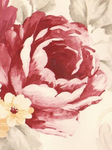 Soft Flowers Burgundy White Yellow Wallpaper Border 1022 eBay