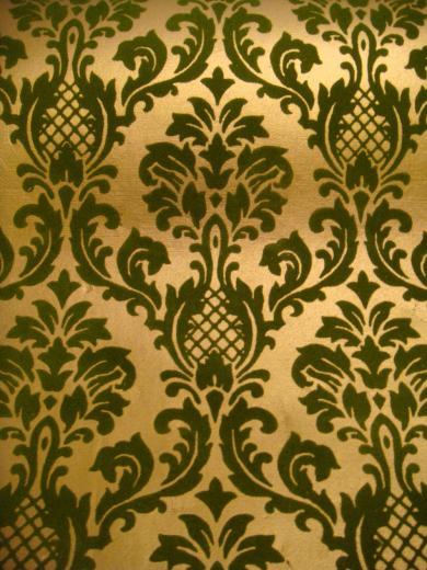 70 039 s Vtg Flocked Gold Brocade Wallpaper Deadstock 2 Rolls 140 Sq