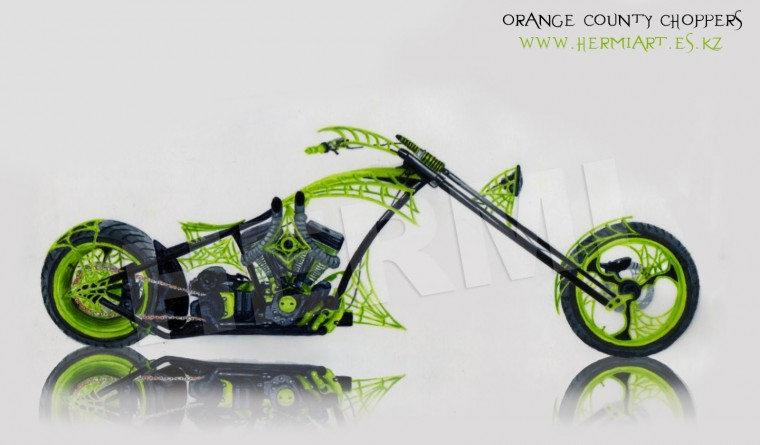 American Orange county chopper Bike Wallpaper Click to Enlarged