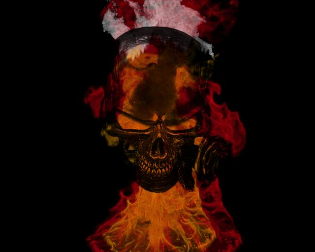 Flaming Skull Wallpapers Desktop Flaming skull
