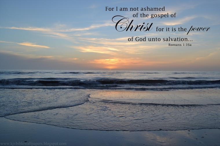 KJV Bible Wallpapers Not Ashamed   Romans 116