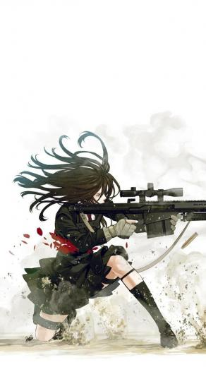 Anime sniper iPhone 5 Wallpaper 640x1136