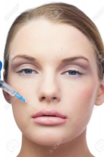 Best Content attractive model having botox injection on the