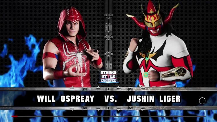 WWE 2K18 Strong Style Evolved Will Ospreay Vs Jushin Thunder Liger