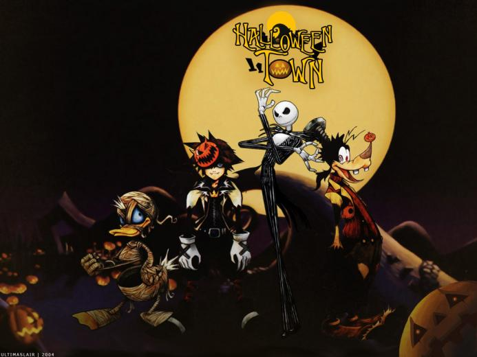 My Wallpapers   Games Wallpaper Kingdom Hearts   Halloween