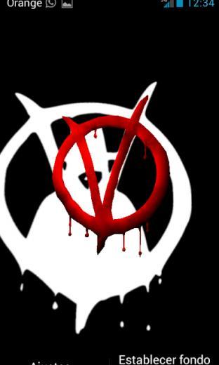 Anonymous 3D Live Wallpaper Screenshot